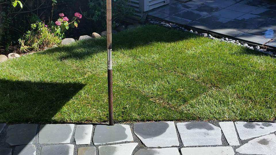 New lawn & patio